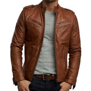 Brown Split Leather Jacket