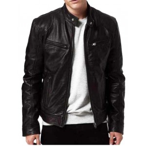 Rogue State Nubuck Contemporary Leather Jacket
