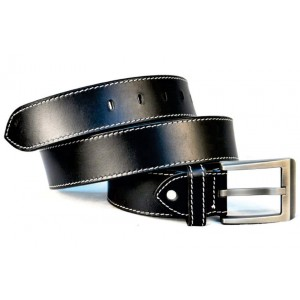 Double Saddle Stich Leather Belt