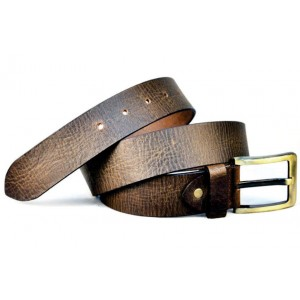 Roller Buckle Jean Leather Belt