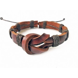 Harness Leather Plaited Bracelet