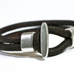 Double Plait Leather Bracelet