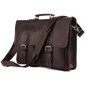 Nylon And Leather Convertible Backpack Bag