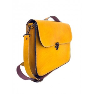 Colombian Slim Leather Day Bag