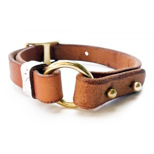 Embriodered Leather Dog Collar