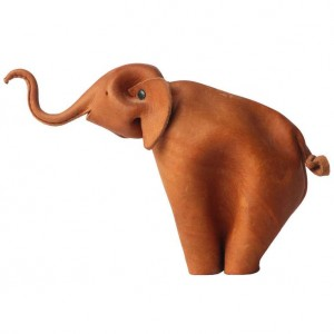 Suede Leather Toy Elephant
