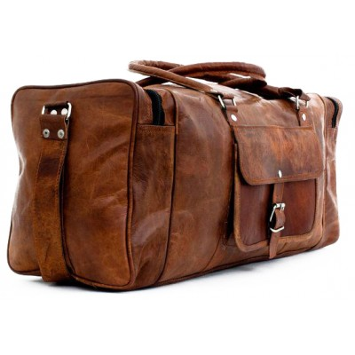 Baseline Delux Travel Leather Nubuck Bag