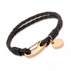 Strand Brown Leather Bracelet