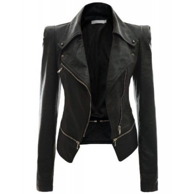 Buff Leather Waterfall Jacket