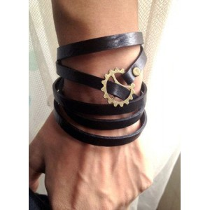 Split Leather Rope Wristband